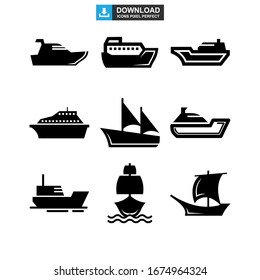 ship icon or logo isolated sign symbol vector illustration - Collection of high quality black style vector icons