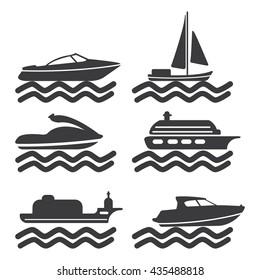 ship icon. ship sign