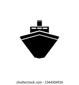 Ship, icon. Summer vector icon Black Thin flat Symbol of Tourism for Web and App development Isolated on White Background. Vector