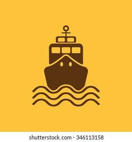 The ship icon. Travel symbol. Flat Vector illustration