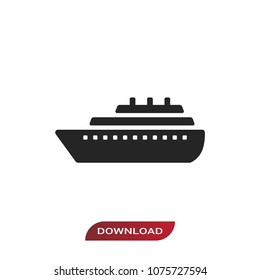 Cruise Ship Icon Images, Stock Photos & Vectors | Shutterstock