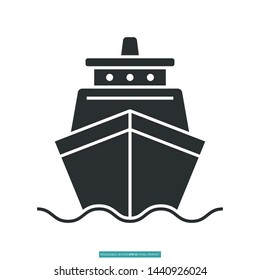 Ship Icon Vector Illustration Logo Template For Website Or Mobile App