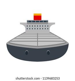 Ship icon. Vector illustration. Sea. EPS 10.