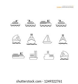 ship icon.ship.vector illustration.
