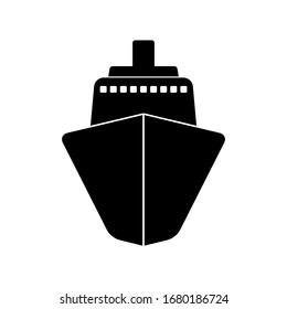 Ship isolated on a white background. Vector illustration.
