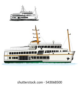 ship istanbul vector