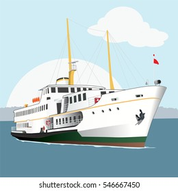 ship istanbul vector,