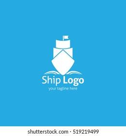 Ship Logo Design Template. Ship Logo Vector Illustration