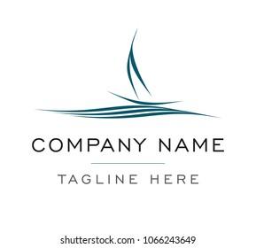 Ship Logo Sailing Boat vector template
