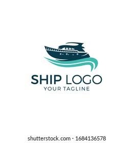 Ship Logo Template Vector Illustration