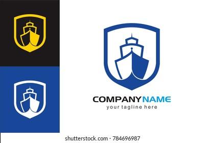 Ship Logo vector illustration boat