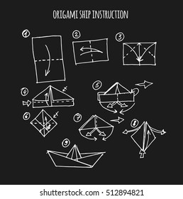 ship origami step by step instruction