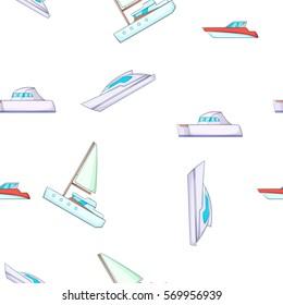 Ship pattern. Cartoon illustration of ship vector pattern for web design