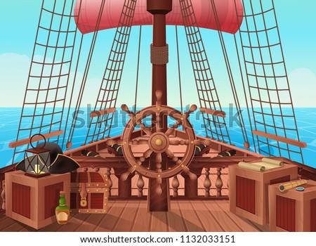SHIP OF PIRATES Vector