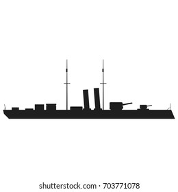 Ship silhouettes Vector black icon on white background