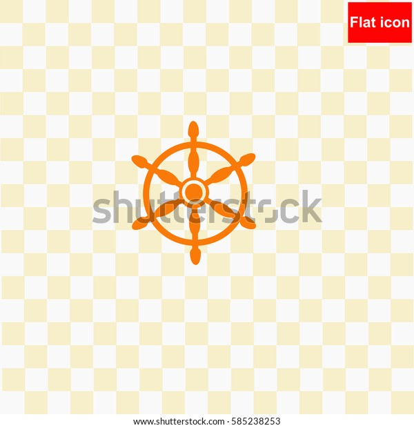 Ship steering  icon Vector design.