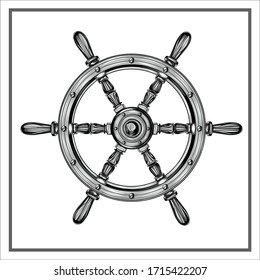 Ship steering wheel icon Nautical Ship Wheel symbol vector sign isolated on white background illustration for graphic and web design.