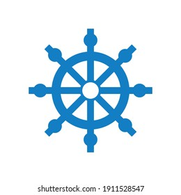 Ship steering wheel icon Travel logo Concept vector illustration