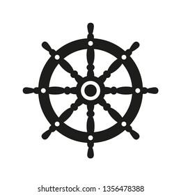 ship steering wheel icon vector