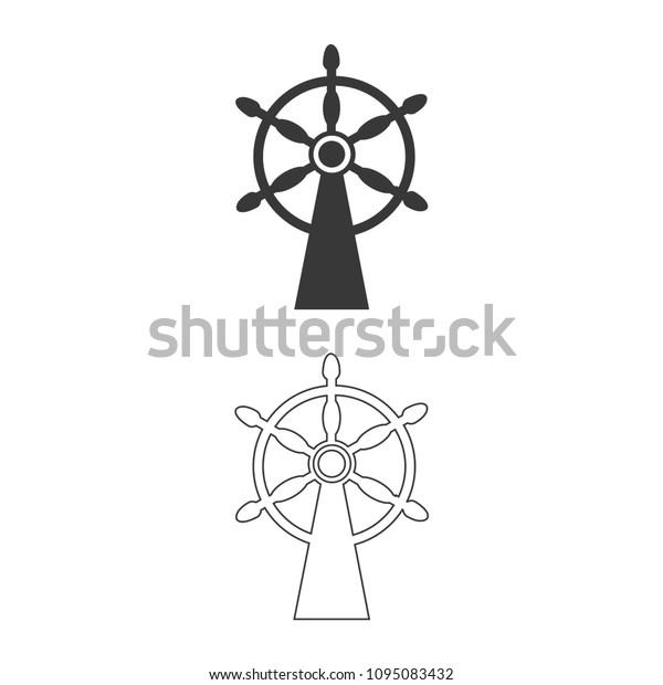 EPS Illustration - Ship steering wheel. Vector Clipart gg111880014 - GoGraph