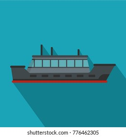 Ship trip icon. Flat illustration of ship trip vector icon for web