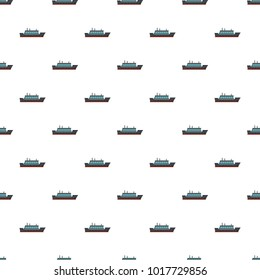 Ship trip pattern seamless in flat style for any design