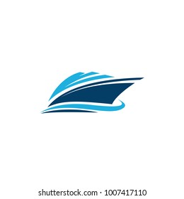 ship vector graphic logo design