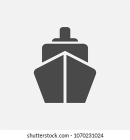 ship vector icon water transport system