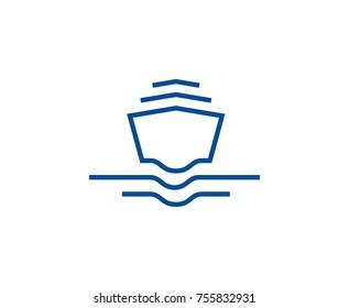 Ship wave logo