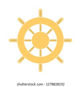 ship wheel flat icon-boat sign-rudder sign-navigation symbol-vessel vector-yacht isolated