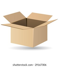 Shipping box vector and isolated