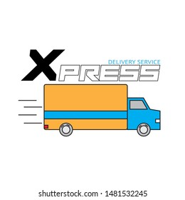 Shipping and delivery icon. Vector symbol for extreme corporate identity design of courier post office or parcel delivering corporation.