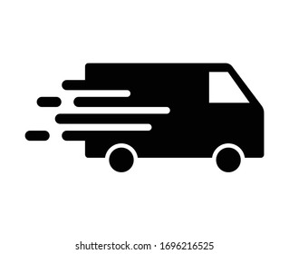 Shipping fast delivery van icon symbol, Pictogram flat design for apps and websites, Isolated on white background, Vector illustration