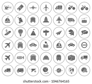 Shipping icons set - delivery illustration - transportation sign and symbols