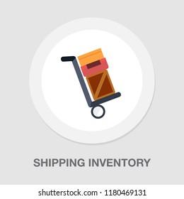 shipping inventory icon - vector cardboard - shipping package - vector carton box