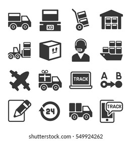 Shipping, Logistic and Delivery Icons Set. Vector