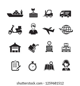 Shipping and Logistics Icons, Vector