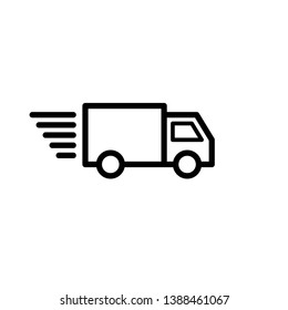 Shipping signage : truck vector icon