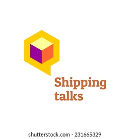 Shipping talks forum boards logo template.