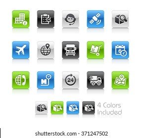 Shipping and Tracking Icons / The file Includes 4 color versions in different layers.