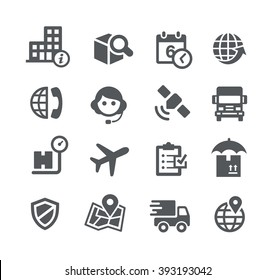 Shipping and Tracking Icons // Utility Series