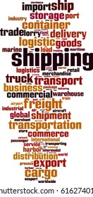 Shipping word cloud concept. Vector illustration