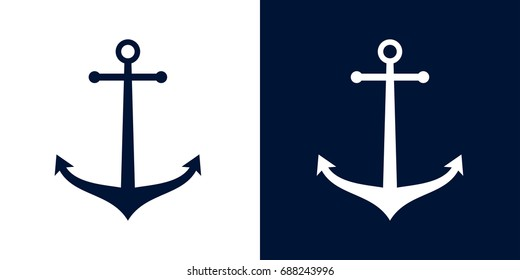 Ships anchor vector icon