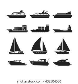 Ships transportation, vector illustration