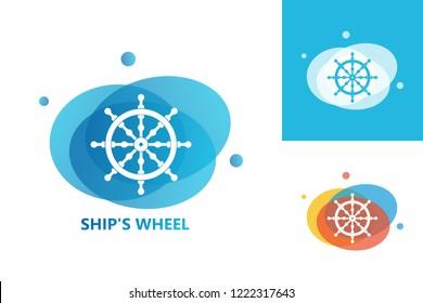 Ship's Wheel Logo Template Design Vector, Emblem, Design Concept, Creative Symbol, Icon