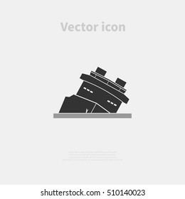 Shipwreck icon isolated on background. Vector illustration