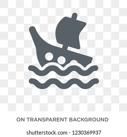 Shipwreck icon. Trendy flat vector Shipwreck icon on transparent background from Fairy Tale collection.