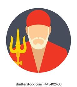 Shirdi Baba Vector Icon