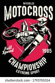 shirt design of motocross championship