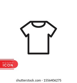 shirt line icon with modern design. flat style for graphic design template. suitable for logo, web, UI, mobile app. vector illustration